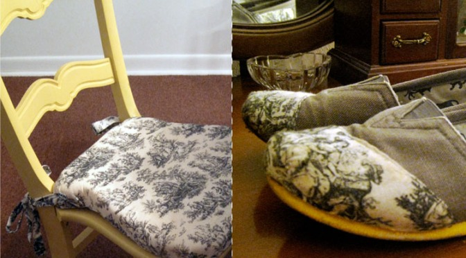 Two for the Price of One: reupholster chairs and make custom shoes with the same fabric
