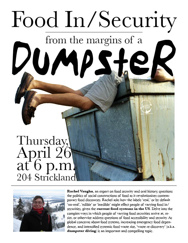 Dumpster Diving, Oral History and Food Insecurity